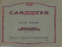 Carter Vergaser Verkauf und Service Katalog