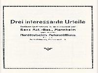 Urteile - Carl Benz Söhne