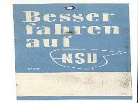 NSU Preisschild