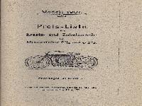 Preisliste Modell 1907