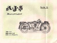 A. J. S. Motorräder, Katalog 1927