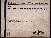 Neue Preise für F.N. Motorräder