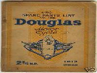 The SPARE PARTS LIST of the Douglas Motor Cycle