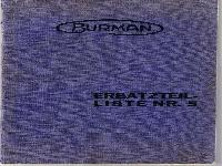 Burman Ersatzteilliste Nr. 5