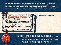 Rabeneick Garantieschein