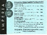 Preisliste: Imperia 1934 heißt Fortschritt!