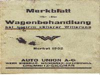 Wanderer - Merkblatt für die Wagenbehandlung bei Eintritt kälterer Witterung (1932)