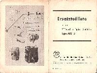 Wanderer Ersatzteilliste für ZF-Synchron-Spiral-Getriebe, Typ AKS 15