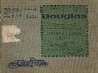 WHOLESALE AND RETAIL LIST (Großhandel- und Einzelhandelsliste) 1915-1922 Douglas 4 h.p. motor cycle