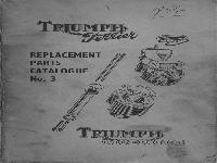 Triumph Terrier Ersatzteilliste 1956