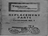 Triumph Ersatzteilliste 1957