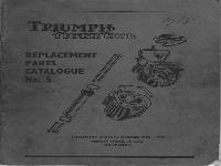 Triumph Ersatzteilliste 1958