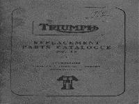 Triumph Ersatzteilliste 1959