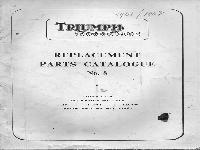 Triumph TigerCub Ersatzteilliste 1961