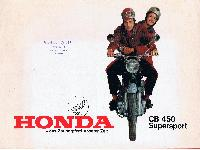 Honda - das Zauberpferd unserer Zeit - CB 450 Supersport