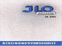 JLO Motor M 200 Bedienungsvorschrift