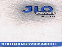 JLO Motor M 2-125 Bedienungsvorschrift