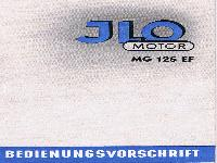 JLO Motor MG 125 EF Bedienungsvorschrift