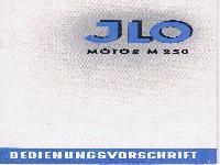 JLO Motor M 250 Bedienungsvorschrift