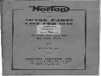 Norton spare parts list for 1955 Models 88 and 99 De luxe Twin