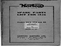 Norton spare parts list for 1956 Models ES 2, 19 S and 50