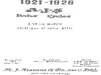 AJS Motor Cycles - 1921-1926 - Catalogue of spare parts