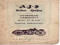 AJS Motor Cycles K7 & K10 General Instructions
