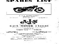 "AJS Motor Cycles - 1952 - spare parts list for ""Springtwin"""
