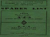 AJS Motor Cycles - 1953 - spare parts list