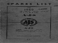AJS Motor Cycles - 1959 - spare parts list