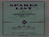 AJS twins spares list 1950