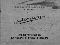 Alcyon Notice d´entretien - 1930 manual