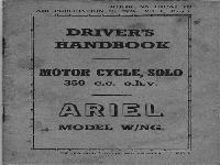 Ariel 1940s 350 c.c. o.h.c. manual