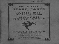 Ariel 1953 squarefour spare parts list