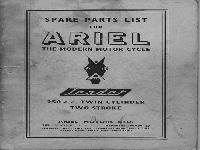 "Ariel 1958 ""Leader"" spare parts list"