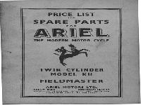 "Ariel 1959 ""Fieldmaster"" spare parts list"