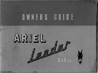 """Ariel 1959 """"Leader"""" manual"""