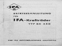 IFA Betriebsanleitung BK 350
