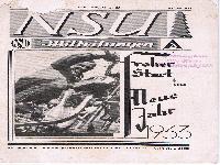 NSU Mitteilungen Neujahr 1933