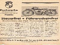 """Beschreibung des Puch - Motorrades Type """"200"""""""