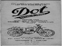 Dot 1954 Competition Riders Manual and Spare Parts Price List