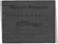 "Francis Barnett 1946 ""Merlin"" manual and spare parts"
