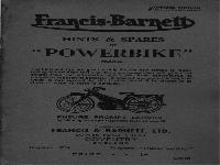 "Francis Barnett 1947 ""Powerbike"" manual and spare parts"