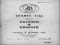 Francis & Barnett Spare list Falcon & Cruiser 1956