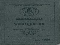 Francis & Barnett Spare list Cruiser 1957