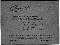 Greeves 1959 Instruction and Service Handbook