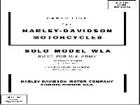 Parts List for Harley-Davidson Motorcycles Solo Model WLA