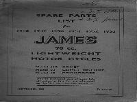 James Spare Parts List