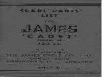 "James ""Cadet"" Spare Parts List"