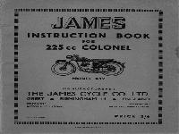 JAMES Instruction Book Colonel
